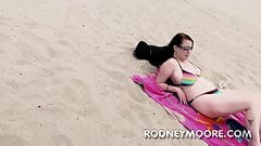 Desire Deluca BBW in Bikini at the Beach Sucking and Fucking
