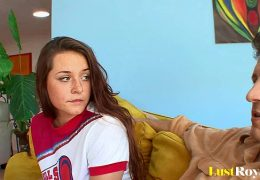 Wild Talia Palmer distracts her angry daddy 10 min