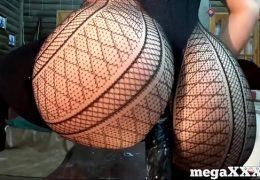 Perfect ass girl rides dildo