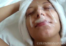 Facial Cumshot Colombian girls Amateur compilation … full videos @
